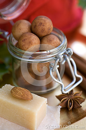 Almond paste potatoes
