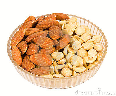 Almond and peanut nuts