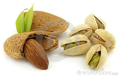 Almond with pistachio