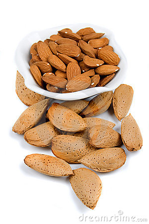 Free Almond Shells And Cores Stock Image - 12269821