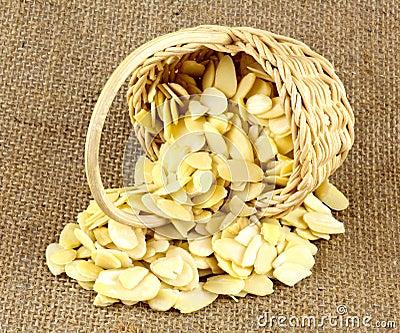 Almond Slices in Wicker Basket