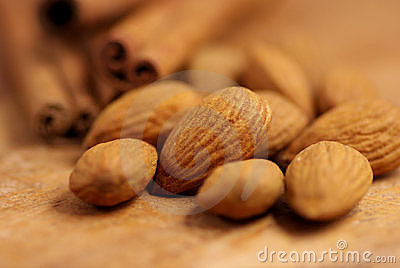Almonds and cinnamon