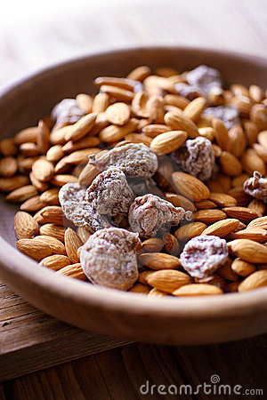 Almonds and dried figs