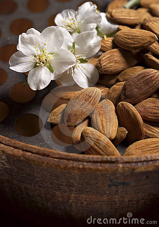 Almonds and flower