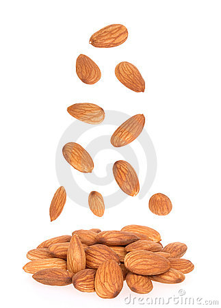 Free Almonds Nuts Royalty Free Stock Photography - 18469997