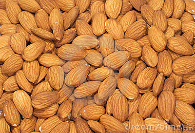 Almonds nuts as a background