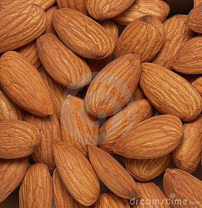 Almonds nuts background