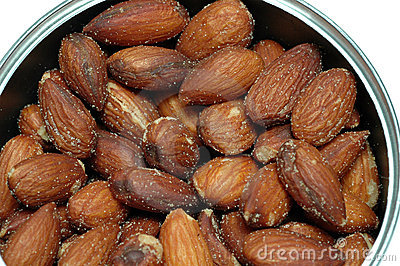 almonds nuts salted in can