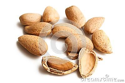Almonds in nutshell