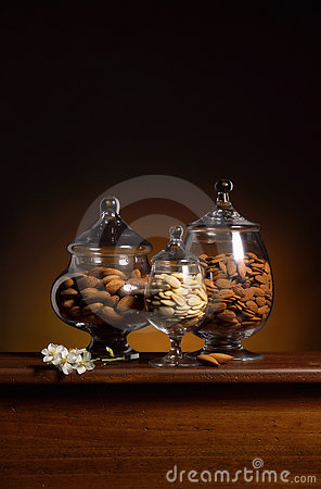 Almonds Still life