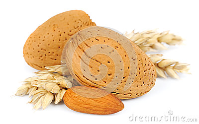 Almonds with wheat