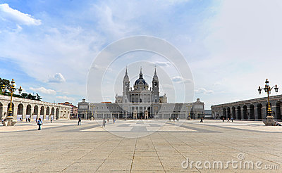 Almudena Cathedral Editorial Photo