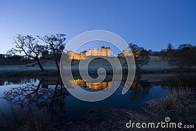 Alnwick castle at dawn
