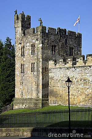 Alnwick Castle in Northumberland - England