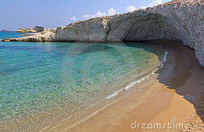 Alogomantra beach, Milos island, Cyclades, Greece