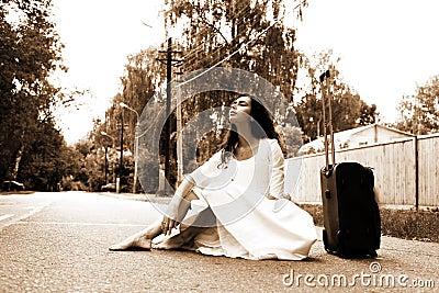 Alone bride
