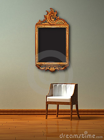 Alone chair with antique frame