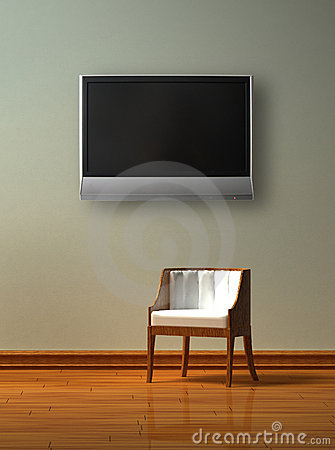 Alone chair with LCD tv