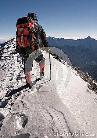 Free Alone Climber Royalty Free Stock Photos - 13138308