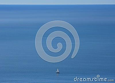 Alone on an empty ocean