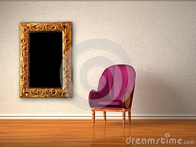 Alone luxurious chair with modern frame