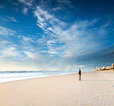 Free Alone On The Beach Royalty Free Stock Images - 20387299