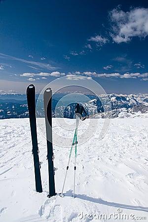Free Alone Ski Royalty Free Stock Photos - 14533558