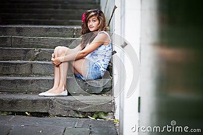 Alone teenager