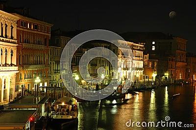 Along Rialto Bridge, Venice at Night