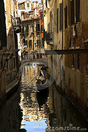 Free Along The Streets Of Venice Royalty Free Stock Photography - 129037
