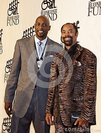 Alonzo Mourning and Walt  Clyde  Frazier Editorial Image