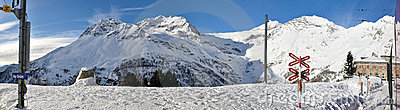Alp Grum station along Bernina express railway