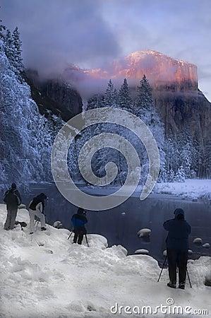 Alpenglow on the granite peaks