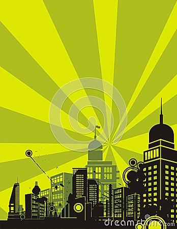 ανατολή σειράς πόλεων αν&alpha