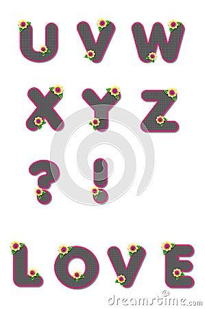 Alpha All Checkered U to Z