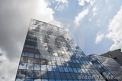 Alpha Bank headquarters in Bucharest city Editorial Photography