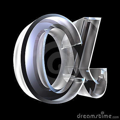 Free Alpha Symbol In Glass (3d) Royalty Free Stock Photo - 5476155