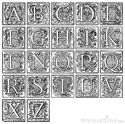 Alphabet from 16th century