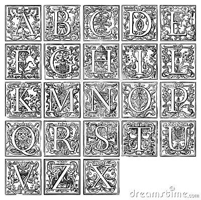 Alphabet from 16th century
