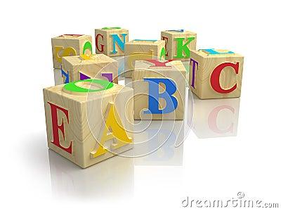 Alphabet ABC cubes