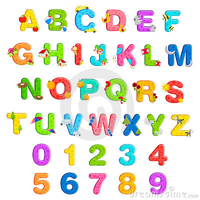 Free Alphabet And Number Set Royalty Free Stock Image - 19020606