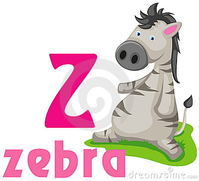 Alphabet animal Z