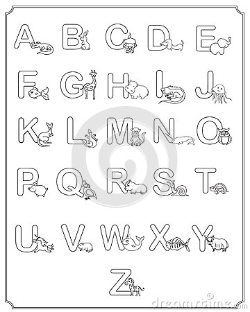 baby abc coloring pages - photo#42
