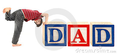 Alphabet Blocks and Adorable Boy DAD