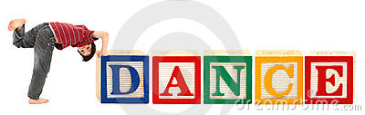 Alphabet Blocks and Adorable Boy DANCE