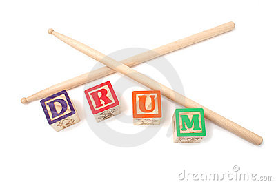 Alphabet Blocks and Drum Stick