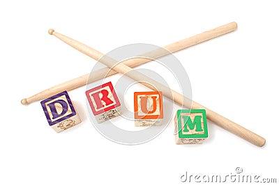 Alphabet Blocks and Drum Stick