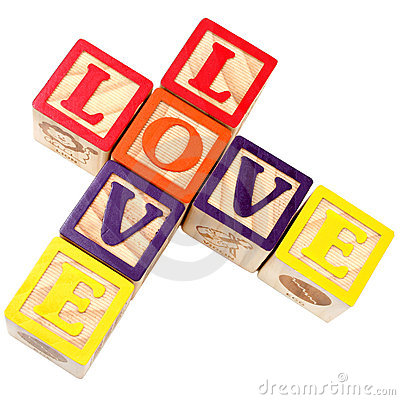 Free Alphabet Blocks Spelling Love In Criss Cross Style Royalty Free Stock Image - 94796