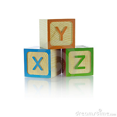 Alphabet blocks - XYZ