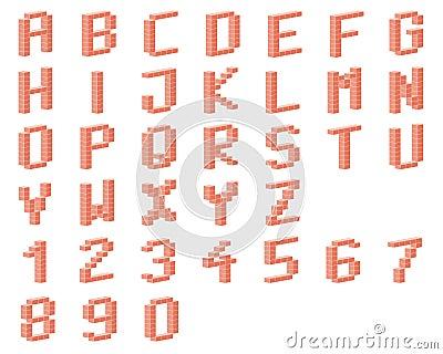 Alphabet, bricks